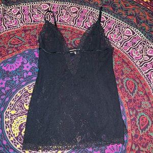 Victoria's Secret Black Lace Lingerie Top